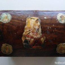Cajas y cajitas metálicas: CAJA MADERA ANTIGUA. Lote 210353793