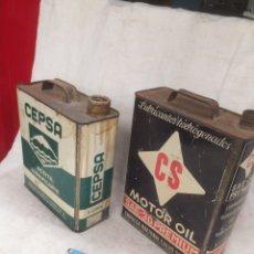 Cajas y cajitas metálicas: LOTE DE DOS LATAS NTIGUAS DE ACEITE!. Lote 210797069