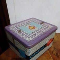 Cajas y cajitas metálicas: ANTIGUA CAJA METÁLICA SERIGRAFIADA CONDAL 19×17×12. Lote 211666475