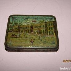 Cajas y cajitas metálicas: ANTIGUA CAJA EN HOJALATA LITOGRAFIADA DE CIGARRILLOS DIMITRINO & CO. EL CAIRO - EGIPTO. Lote 211762278