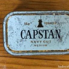 Cajas y cajitas metálicas: CAJA DE METAL TABACO CAPSTAN. Lote 212037292