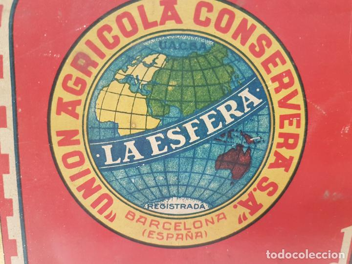 Cajas y cajitas metálicas: RARA CAJA HOJALATA DULCE MEMBRILLO LA ESFERA, BARCELONA - Foto 2 - 212390465