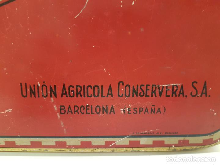 Cajas y cajitas metálicas: RARA CAJA HOJALATA DULCE MEMBRILLO LA ESFERA, BARCELONA - Foto 3 - 212390465