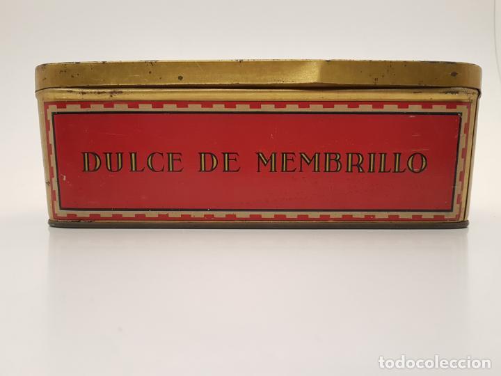 Cajas y cajitas metálicas: RARA CAJA HOJALATA DULCE MEMBRILLO LA ESFERA, BARCELONA - Foto 4 - 212390465