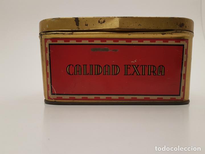 Cajas y cajitas metálicas: RARA CAJA HOJALATA DULCE MEMBRILLO LA ESFERA, BARCELONA - Foto 5 - 212390465