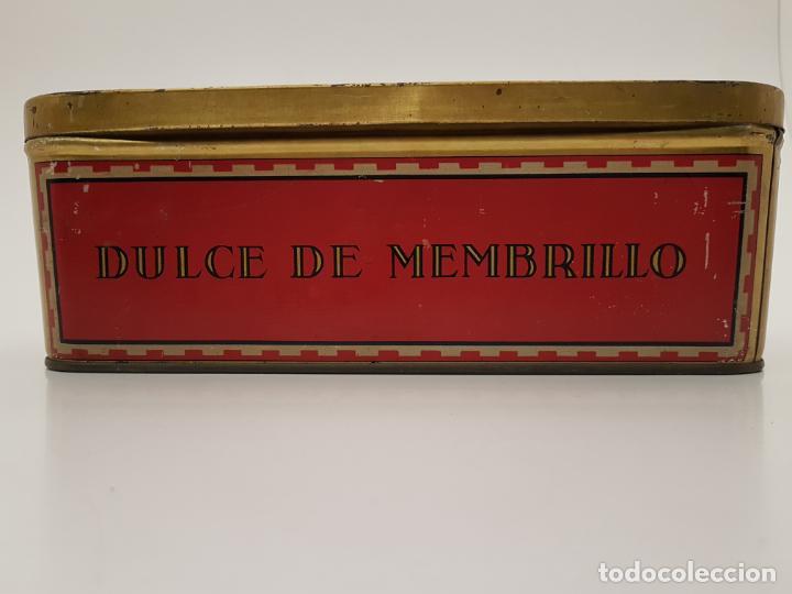Cajas y cajitas metálicas: RARA CAJA HOJALATA DULCE MEMBRILLO LA ESFERA, BARCELONA - Foto 6 - 212390465