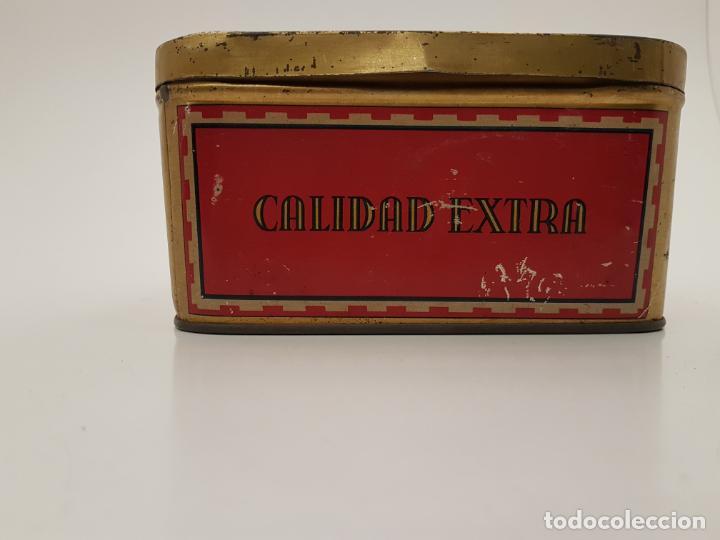 Cajas y cajitas metálicas: RARA CAJA HOJALATA DULCE MEMBRILLO LA ESFERA, BARCELONA - Foto 7 - 212390465