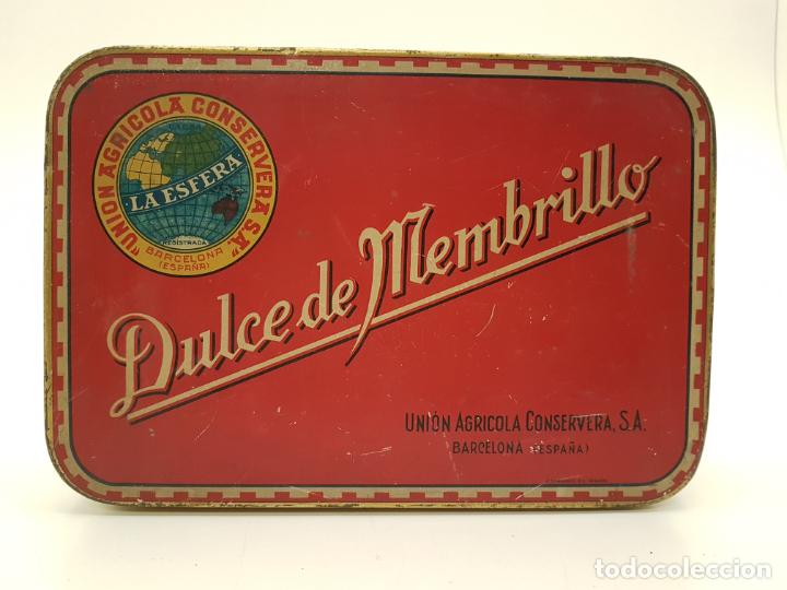 Cajas y cajitas metálicas: RARA CAJA HOJALATA DULCE MEMBRILLO LA ESFERA, BARCELONA - Foto 8 - 212390465