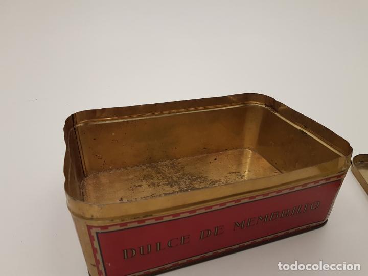 Cajas y cajitas metálicas: RARA CAJA HOJALATA DULCE MEMBRILLO LA ESFERA, BARCELONA - Foto 11 - 212390465