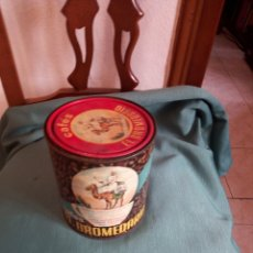 Cajas y cajitas metálicas: ANTIGUA LATA SERIGRAFIADA. CAFÉS EL DROMEDARIO.. Lote 212518138
