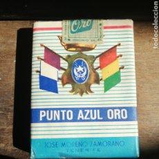 Casse e cassette metalliche: RARO PAQUETE DE TABACOPUNTO AZUL ORO, TENERIFE, PARA GRUPO TIRADORES IFNI. Lote 212524900