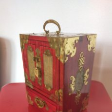 Cajas y cajitas metálicas: JOYERO MUSICAL CHINO. Lote 212592821