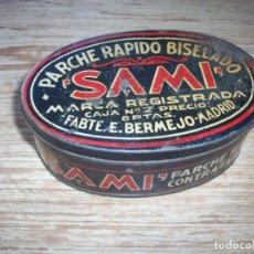 Cajas y cajitas metálicas: CAJA METALICA LITOGRAFIADA . PARCHE RAPIDO BISELADO SAMI .. Lote 212998828