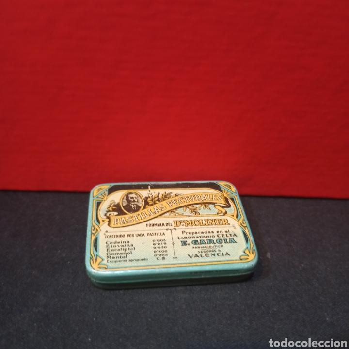 Cajas y cajitas metálicas: LOTE 3 ANTIGUAS CAJAS METALICAS - PASTILLAS PECTORALES FORMULA DEL DR.MOLINER - Foto 7 - 213572096