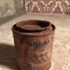 Cajas y cajitas metálicas: ANTIGUA LATA / BOTE DE ESMALTE LA GRAN MARCA ESPAÑOLA LOS PAJAROS AÑOS 40. Lote 213955388