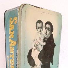 Cajas y cajitas metálicas: CAJA HOJALATA CLASE EXTRA DULCE DE MEMBRILLO PUENTE GENIL SAN ANTONIO FABRICADA EN CAMPAÑA 1966. Lote 213966971