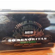 Cajas y cajitas metálicas: CAJA METALICA - PURITOS AGIO - 50 SEÑORITAS. Lote 214561386