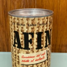 Cajas y cajitas metálicas: ANTIGUO BOTE. AFÍN. SUCEDÁNEO DEL CAFÉ. GALLINA BLANCA. BOTE ANTIGUO. Lote 214797213