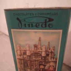 Casse e cassette metalliche: LATA LITOGRAFIADA DULCES Y CARAMELOS PINEDO, BURGOS. Lote 215014403