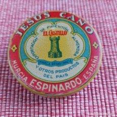 Boîtes et petites boîtes métalliques: BUEN ESTADO (DE COLECCIÓN,MUY RARA PERO UTILIZADA )LATA DE PIMENTÓN **EL CASTILLO**ESPINARDO-MURCIA. Lote 215184482