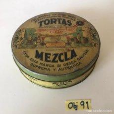 Cajas y cajitas metálicas: CAJA DE METAL ANTIGUA. Lote 216893696