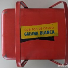 Cajas y cajitas metálicas: LATA CESTA VINTAGE ORIGINAL GALLINA BLANCA EN EXCELENTE ESTADO. Lote 217114547