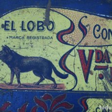 Boîtes et petites boîtes métalliques: ESPECTACULAR CAJA HOJALATA - TURRONES EL LOBO - VDA. DE MANUEL S.SOLER JIJONA. Lote 217420842