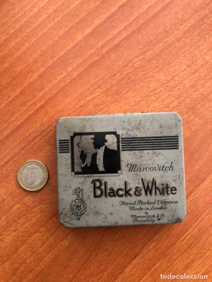 ANTIGUA CAJA DE CIGARRILLOS BLACK WHITE (Coleccionismo - Cajas y Cajitas Metálicas)