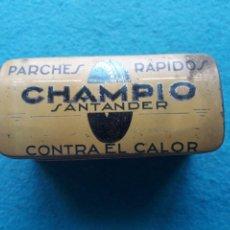 Boîtes et petites boîtes métalliques: CAJA DE LATA PARCHES RÁPIDOS CHAMPIO. SANTANDER. Lote 217716730