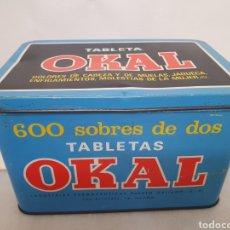 Caixas e caixinhas metálicas: OKAL. TABLETAS. ANTIGUA CAJA METALICA. INDUSTRIAS FARMACEUTICAS PUERTO GALIANO. MADRID.. Lote 217900885