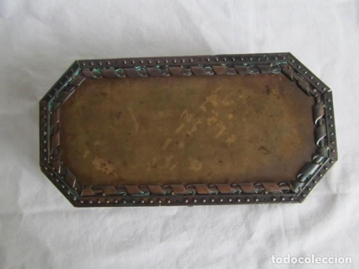 Cajas y cajitas metálicas: Caja joyero de madera forrada de cobre - Foto 2 - 218158166