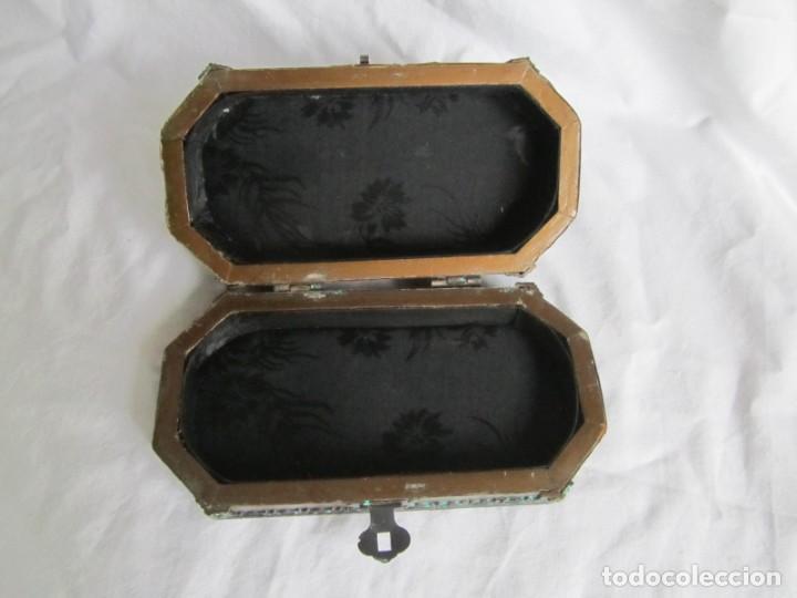 Cajas y cajitas metálicas: Caja joyero de madera forrada de cobre - Foto 8 - 218158166