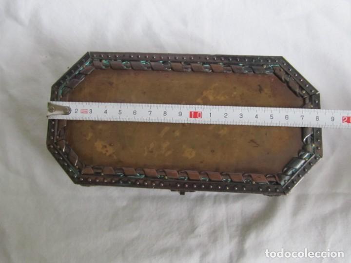 Cajas y cajitas metálicas: Caja joyero de madera forrada de cobre - Foto 9 - 218158166
