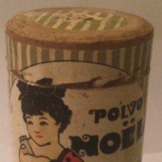 Cajas y cajitas metálicas: POLVOS DE TALCO ANTIGUO RARO BOTE CARTON POLVO DE NOELPTAS 0'50 BOTE ORIGINAL AÑOS 40. Lote 218253521