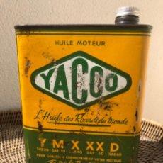 Cajas y cajitas metálicas: LATA DE ACEITE YACCO DE 2 LITROS, LUBRICANTE AÑOS 50/60. Lote 218290287