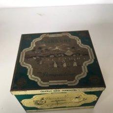 Cajas y cajitas metálicas: ANTIGUA CAJA METÁLICA. Lote 218458130