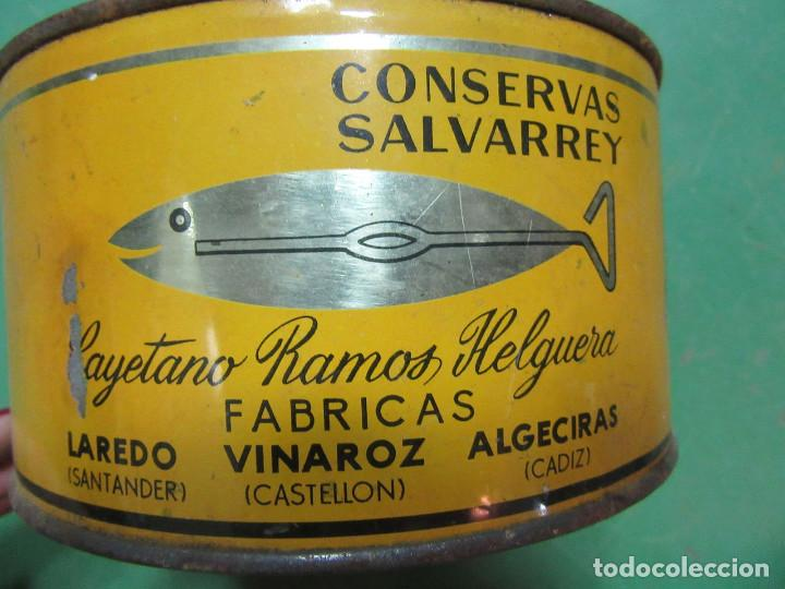 Cajas y cajitas metálicas: Lata de conservas de sardinas en aceite. La Chula. Laredo, Vinaroz y Algeciras. - Foto 2 - 218733841