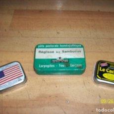 Cajas y cajitas metálicas: LOTE DE 3 CAJAS DE HOJALATA FRANCESAS. Lote 218894977