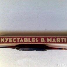 Cajas y cajitas metálicas: ESTUCHE ANTIGUO DE INYECTABLES ERGOTINA FORMULA IVÓN,LABORATORIO B.MARTIN,MADRID,SIN USAR.. Lote 219047056