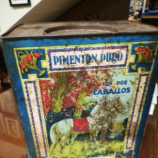 Caixas e caixinhas metálicas: LATA DE PIMENTÓN, LOS DOS CABALLOS. Lote 219153225