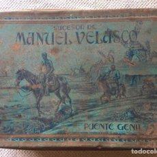Cajas y cajitas metálicas: SUCESOR MANUEL VELASCO PUENTE GENIL DIBUJO DON QUIJOTE. Lote 219500700