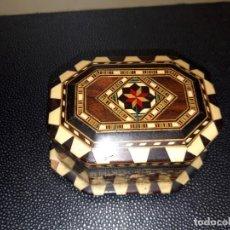 Cajas y cajitas metálicas: CAJA TARACEADA JOYERO.. Lote 219661995