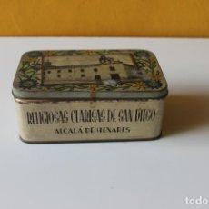 Cajas y cajitas metálicas: CAJA RELIGIOSAS CLARISAS DE SAN DIEGO, ALCALA DE HENARES, ALMENDRA GARRAPIÑADA. Lote 220676890