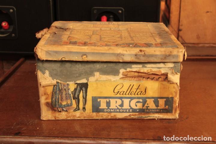 Cajas y cajitas metálicas: Antigua y rarisima caja de galletas maria, caja de metal galletas trigal , dominguez, salamanca - Foto 4 - 220772386