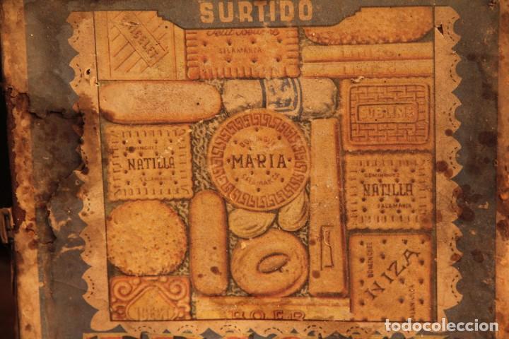 Cajas y cajitas metálicas: Antigua y rarisima caja de galletas maria, caja de metal galletas trigal , dominguez, salamanca - Foto 6 - 220772386
