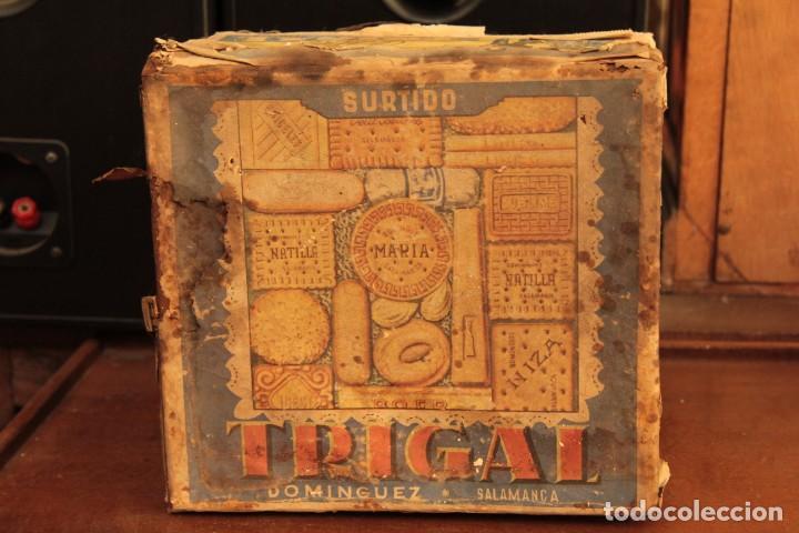 Cajas y cajitas metálicas: Antigua y rarisima caja de galletas maria, caja de metal galletas trigal , dominguez, salamanca - Foto 7 - 220772386