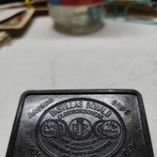 Cajas y cajitas metálicas: CAJA PASTILLAS BONALD BEQUELITA. Lote 221284945