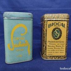 Casse e cassette metalliche: 1 LATA DE BIOCAL Y 1 LATA DE CACAO SUCHARD. Lote 221723417