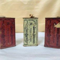 Caixas e caixinhas metálicas: LOTE DE 3 LATAS DE PÓLVORA SANTA BARBARA. Lote 221724256