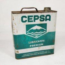 Cajas y cajitas metálicas: LATA DE ACEITE CEPSA. LUBRIFICANTE PERMIUM.. Lote 222276427